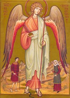 The Archangel Raphael with Tobias and Sarah Catholic Archangels, Seven Archangels, Raphael Angel, St Raphael, Tobias, Archangel Prayers, Saint Gabriel, San Rafael, Saint Esprit