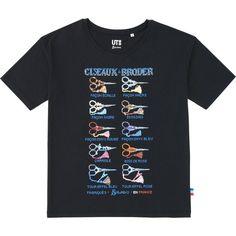 UNIQLO Women Maison Sajou Short Sleeve Graphic T-Shirt ($9.90) ❤ liked on Polyvore