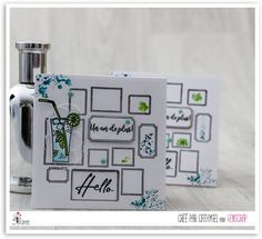 """Cathy : Tampons & matrices de coupe (dies) #4enscrap """"Mojito"""" Scrapbooking, Tampons, Mojito, Simple, Gift Cards, Gifts, Graphic, Cas, Album"""