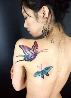 Butterfly Tattoo Design On Body