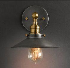 Purelume Retro Vintage Blurred Lampe Wandleuchte inkl. 40W Edison Glühbirne: Amazon.de: Beleuchtung
