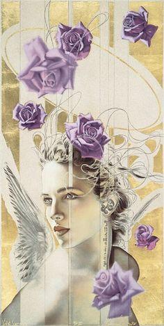 Manuel Nunez Art, Violet Serene