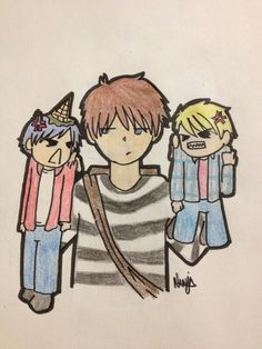 Haunted House episode: Laurence separating Garroth and Dante who are bickering like Children.