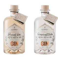 Edinburgh's Old Curiosity Distillery has released two new colour-changing gin flavours to coincide with the opening of its new botanical garden Gin Recipes, Cocktail Recipes, Gin Brands, Gin Gifts, Gin Bottles, Wine And Liquor, Bottle Packaging, Gin And Tonic, Bottle Design