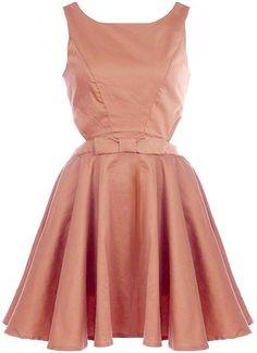 Rose 1950's A-Line Dress