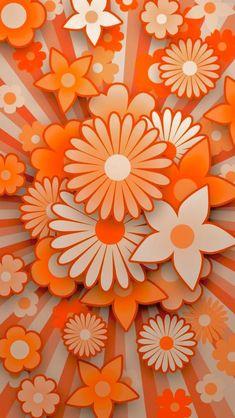 45 New Ideas Flowers Fondos Orange Iphone Wallpaper Orange, Cellphone Wallpaper, Wallpaper Backgrounds, Pretty Backgrounds, Wallpaper Ideas, Iphone Wallpapers, Pattern Wallpaper, Orange Flowers, Orange Color