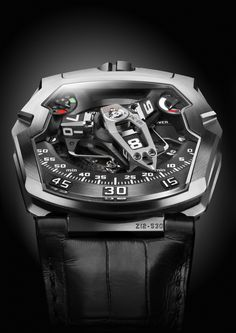 "The Urwerk UR-210 ""Maltese Falcon"": Including the Very First Winding Efficiency Complication"
