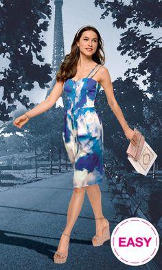 BurdaEasy Smocked Back Dress FS/2014