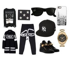 """""""Untitled #33"""" by heedagurl on Polyvore featuring Ray-Ban, Casetify, New Era, Michael Kors, Giuseppe Zanotti, Hood by Air, Haculla, Yves Saint Laurent, men's fashion and menswear"""