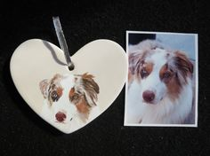 Australian Shepherds are a lot of fun to paint. Each furry friend has unique features and no 2 look alike. They all seem to have that cute puppy dog look and sweet personality that makes them exciting to paint. I have a way of seeing the little details that make us all unique to painting them on canvas. Each ornament is hand painted by me using the customers provided picture. This listing is for 1 Original Hand Painted Pet Portrait Ornament. Other shapes available for the same price. They…
