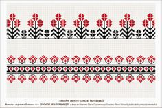 Semne Cusute: romanian traditional motifs - MOLDOVA - Suceava, s. Needlepoint Patterns, Peyote Patterns, Loom Patterns, Cross Stitch Heart, Cross Stitch Borders, Cross Stitch Patterns, Folk Embroidery, Cross Stitch Embroidery, Fair Isle Chart