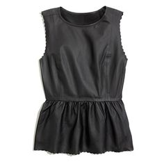 leather scallop peplum top / madewell