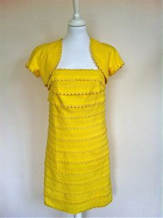Luisa Spagnoli Yellow Sundress With Caraco via The Queen Bee. Click on the image to see more!