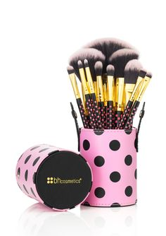 A Bouquet of Makeup Brushes...On ideeli: BH COSMETICS 11-Pice Pink-A-Dot Brush Set