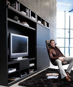Furniture, TV, stereo, etc. Home Office, Tv Armoire, Tv Furniture, Home Organisation, Kabine, Tv Unit, Entertainment Center, New Homes, Entertaining
