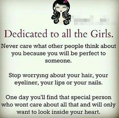 Dedicated to all us girls !!!
