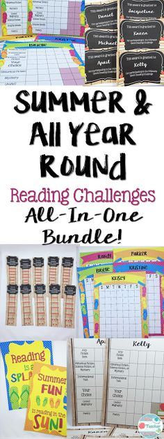Reading Challenges All Year Round Bundle  The Ultimate Genre Reading Challenge and the Summer Reading Challenge will challenge students to read a variety of texts over the school year AND throughout the summer. Since these products are editable, they are adaptable to a wide variety of age levels! There are two versions of each challenge: Level 1 and Level 2. They are editable so YOU get to choose the genres…