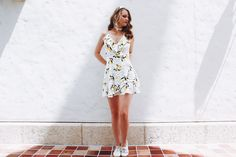 Dress:Forever 21 Keds:Shoebuy Nothing says spring more than lemons! Spring to me, is extremely fresh and light. So wearing anything with lemon detailing on it is perfect. It's not secret dresses are my favorite fashion…
