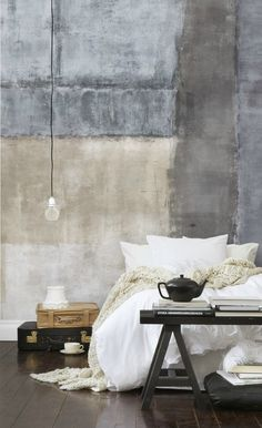 Japanese Aesthetic: 35 Wabi Sabi Home Décor Ideas - DigsDigs Industrial Bedroom Design, Vintage Industrial Decor, Vintage Home Decor, Industrial Cafe, Industrial Style, Industrial Lamps, Antique Decor, Industrial Furniture, Wabi Sabi