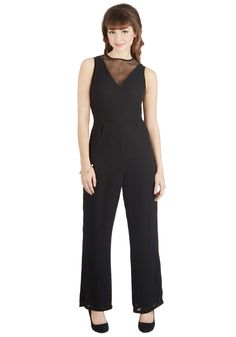 En Pointe of View Jumpsuit. As a dancer, you spend most nights in tights and dresses. #black #modcloth