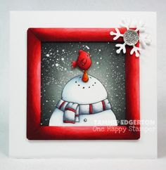 THE PERFECT PERCH by Tammie E - Cards and Paper Crafts at Splitcoaststampers More gray and red - love it this year!