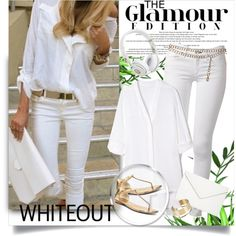 Spring Whites by sharoncrotty on Polyvore featuring Helmut Lang, rag & bone, MICHAEL Michael Kors, Isaac Mizrahi, By Malene Birger, Chanel and springwhiteout