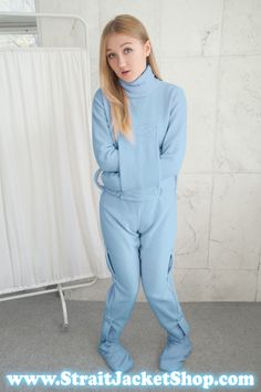 Blue Straitjacket Soft Polar One Piece Pajama Onesie-ABDL / Adult Baby / Romper / Restraining. Blue Straitjacket Soft Polar One Piece Pajama Onesie-ABDL / Adult Baby / Romper / Restraining / Bondage / DDLG / StraitJacketShop, Potty Training Pants, Cloth Diaper Pattern, Diaper Changing Station, One Piece Pajamas, Straight Jacket, Sensual, Onesies, Normcore, How To Wear