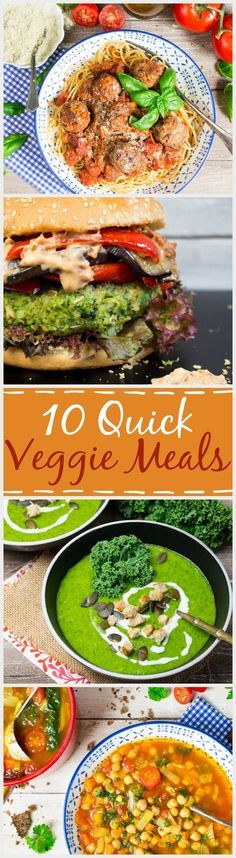 Are you looking for healthy, delicious, and vegan recipes? Then check out these 10 quick veggie meals that are ready to eat in no time.