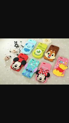 Fundas de:SULLEY , MIKE ,CHIP Y DALE ,POOH , MICKEY , STICH , MINI MOUSE todas las fundas son mias