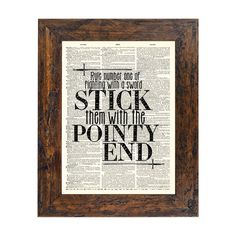 Game of Thrones Inspired Pointy End Quote Print on by AvantPrint, $9.00