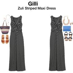 """Zuli Striped Maxi Dress"" by hanger731x on Polyvore"