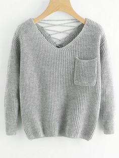 GET $50 NOW | Join Zaful: Get YOUR $50 NOW!https://m.zaful.com/v-neck-lace-up-back-pullover-sweater-p_428053.html?seid=6138422zf428053