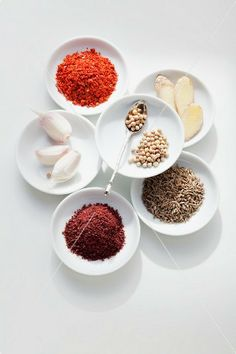 Spices for a Syrian spinach dish