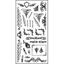 """Fiskars - 4"""" X 8"""" Clear Stamp Set - Swirly Q's"""