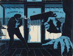 Mac Conner (born 1913, American), 1954, Killer in the Club Car, in This Week Magazine.