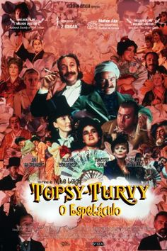 "Rare movie poster for ""Topsy Turvy"" (1999)"
