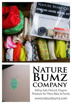 Nature Bumz Co. Newborn Diaper Rental.