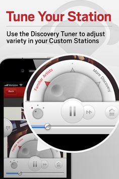 iHeartRadio app provides a Discovery Tuner to adjust variety in you Custom Stations!