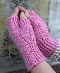 These romantic mitts are great when you only have one ball of that luxorious yarn…