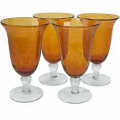 Iris 4-pc. Footed Glass Set  found at @JCPenney