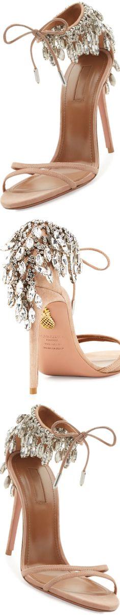 Aquazzura Eden Crystal-Embellished Sandal