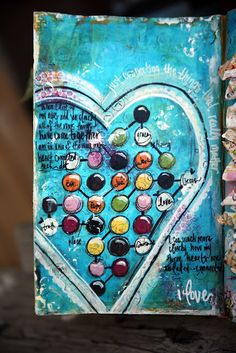 Junelle Jacobson's beating heart #mixed_media #art #hearts