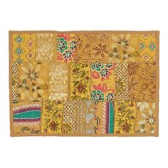 L R RESOURCES INC Timbuktu Hand Crafted Cotton and Poly Recyled Sari Placemats