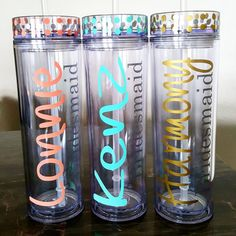 Custom Tumbler One Personalized by krismattshop on Etsy Vinyl Tumblers, Acrylic Tumblers, Personalized Tumblers, Custom Tumblers, Personalized Gifts, Coffee Cup Design, Birthday Cup, Tumbler With Straw, Voss Bottle