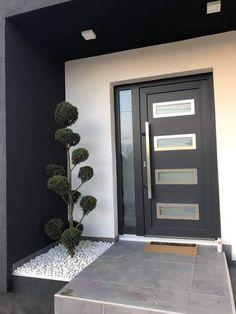 Home Door Design, House Front Design, Dream Home Design, Modern House Design, House Extension Design, Home Interior Design, Modern Exterior Doors, Exterior Design, Interior And Exterior