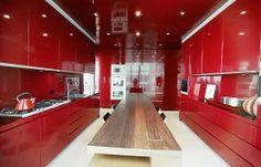 Spanishmodernhome: gabinetes de cocina moderna rojo diseño, ideas ...