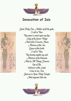 Invocation of Isis