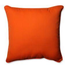 Sundeck Orange 25-inch Floor Pillow