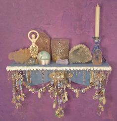 Winter Wonderland Wall Altar OOAK Pagan Decor by EarthStarStudios Wicca Altar, Pagan Decor, Home Altar, Magick, Witchcraft, Book Of Shadows, Altered Art, Tarot, Decoration
