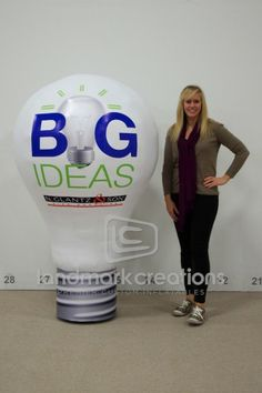N. Glantz & Son's Inflatable Light Bulb Trade Show Display #tradeshow #marketing #inflatables